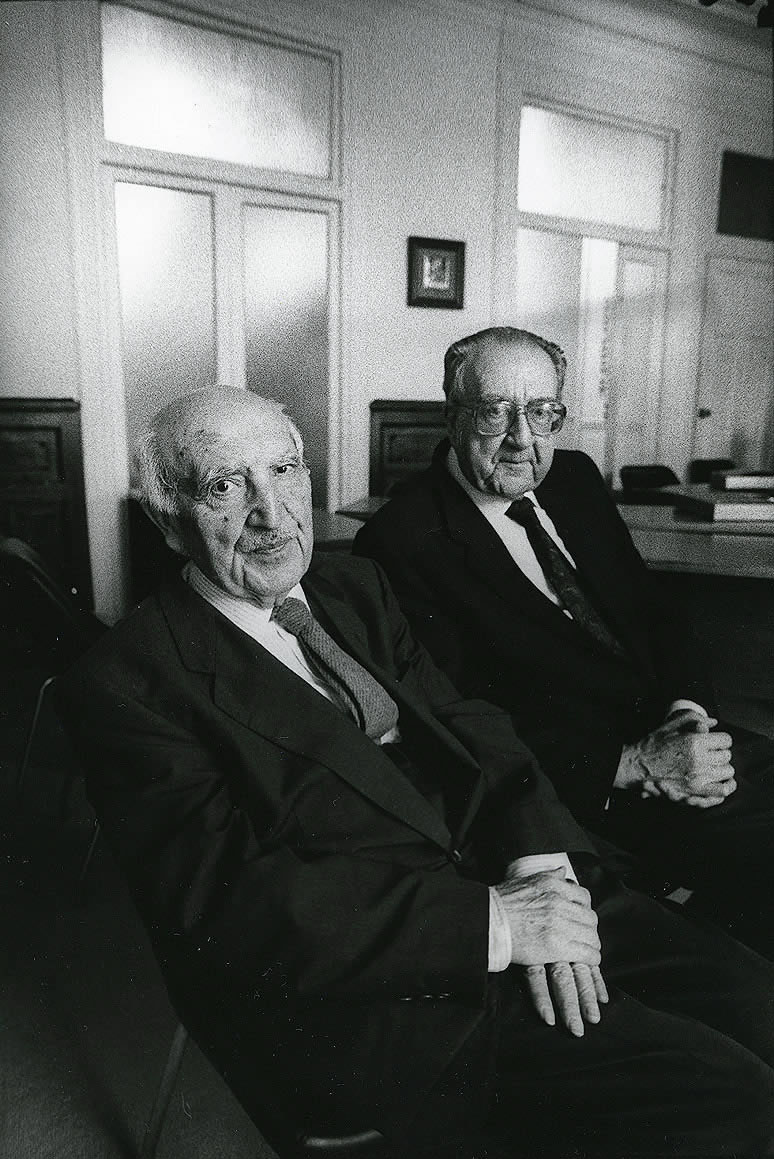 Antonio Fraguas e Xosé Filgueira Valverde