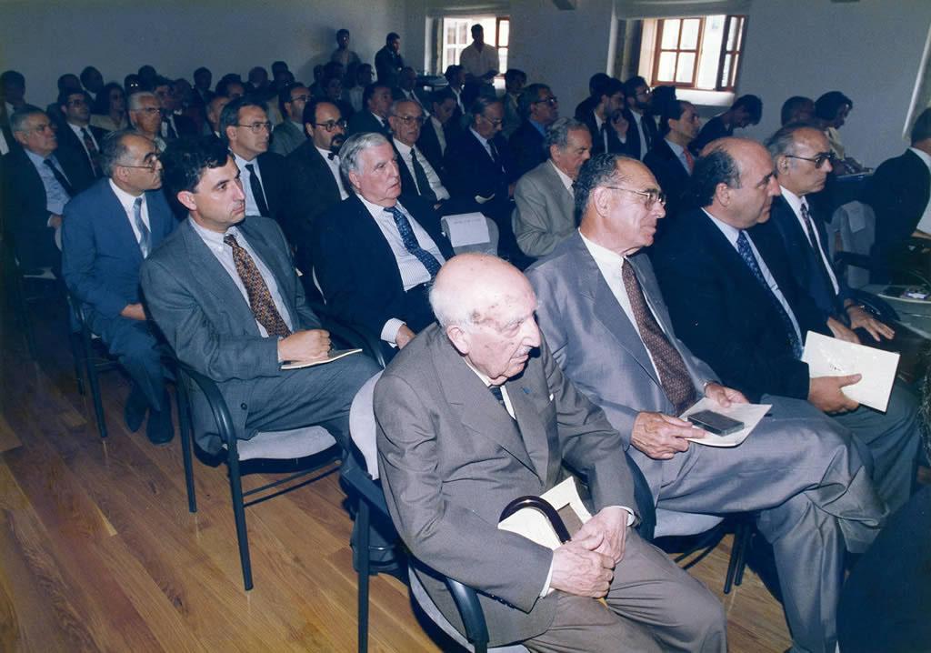 Antonio Fraguas na inauguración da sede do CCG