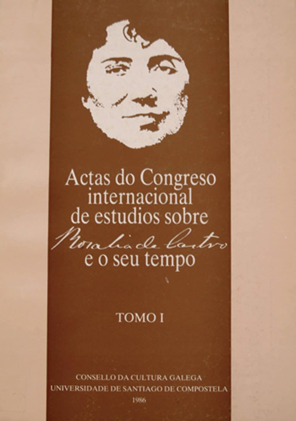 Portada de  Actas do Congreso Internacional de Estudos sobre Rosalía de Castro e o seu tempo (v.1)