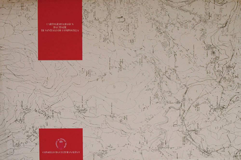 Portada de  Cartografía básica da cidade de Santiago de Compostela