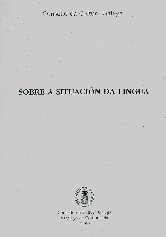 Portada de  Sobre a situación da lingua