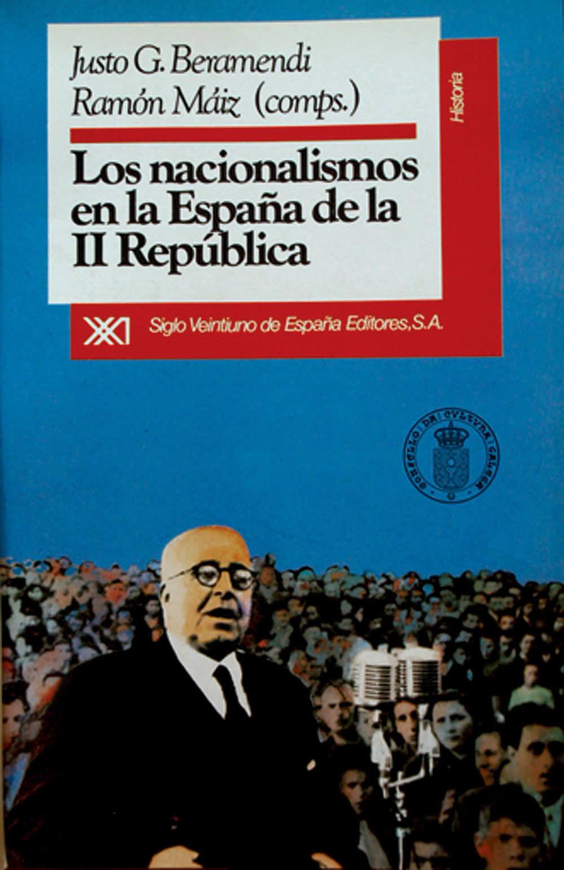 Portada de Los nacionalismos en la España de la II República