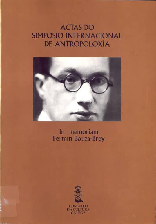 Portada de  Actas do simposio de antropoloxía: in memoriam Fermín Bouza Brey