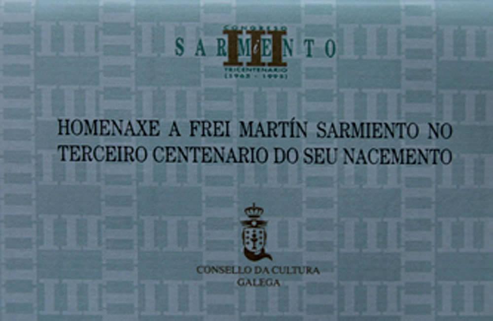 Portada de  Homenaxe a Frei Martín Sarmiento no Terceiro Centenario do seu nacemento