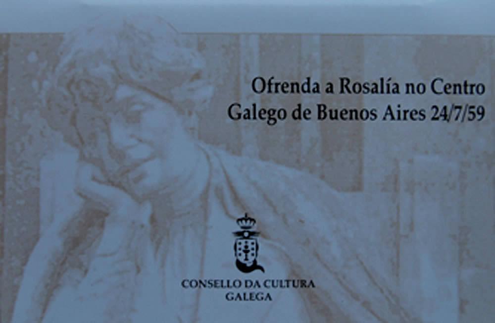 Portada de  Ofrenda a Rosalía de Castro no Centro Galego de Buenos Aires