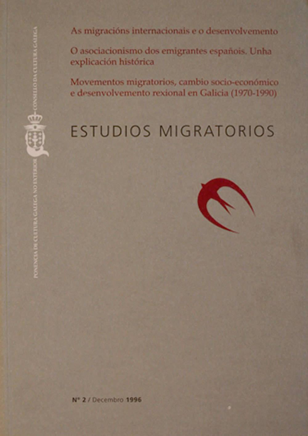 Portada de  Estudios Migratorios N.º 2 (decembro de 1996)