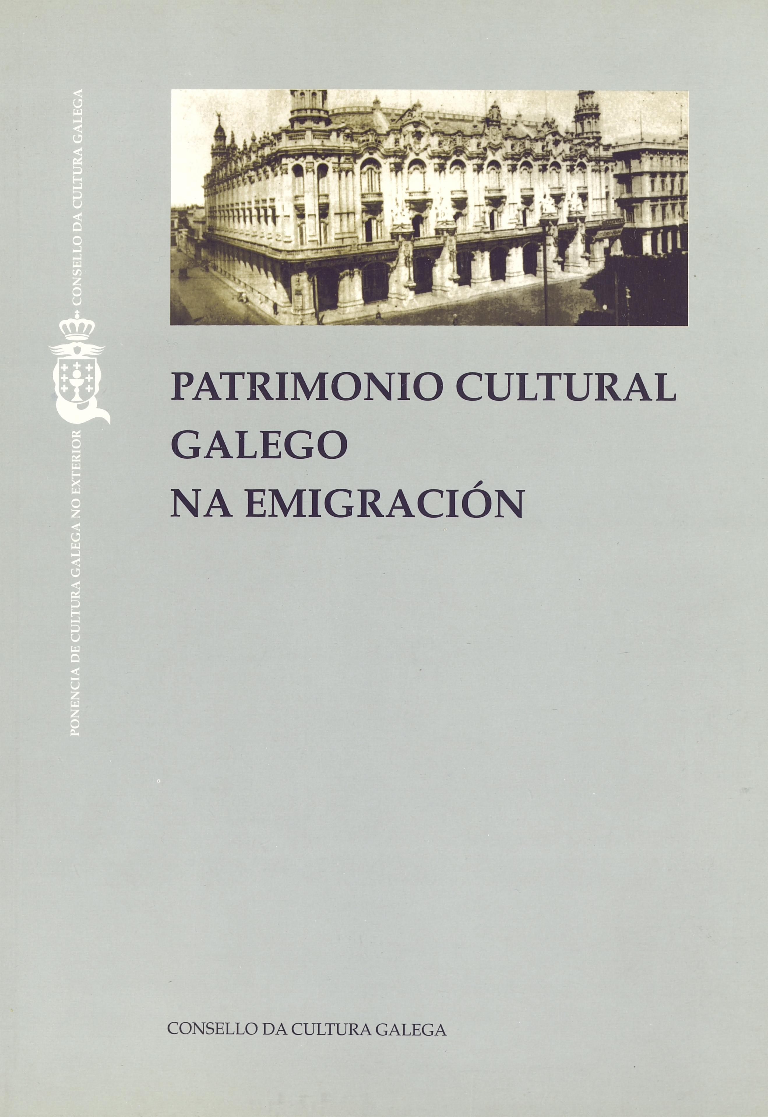 Portada de  Patrimonio cultural galego na emigración