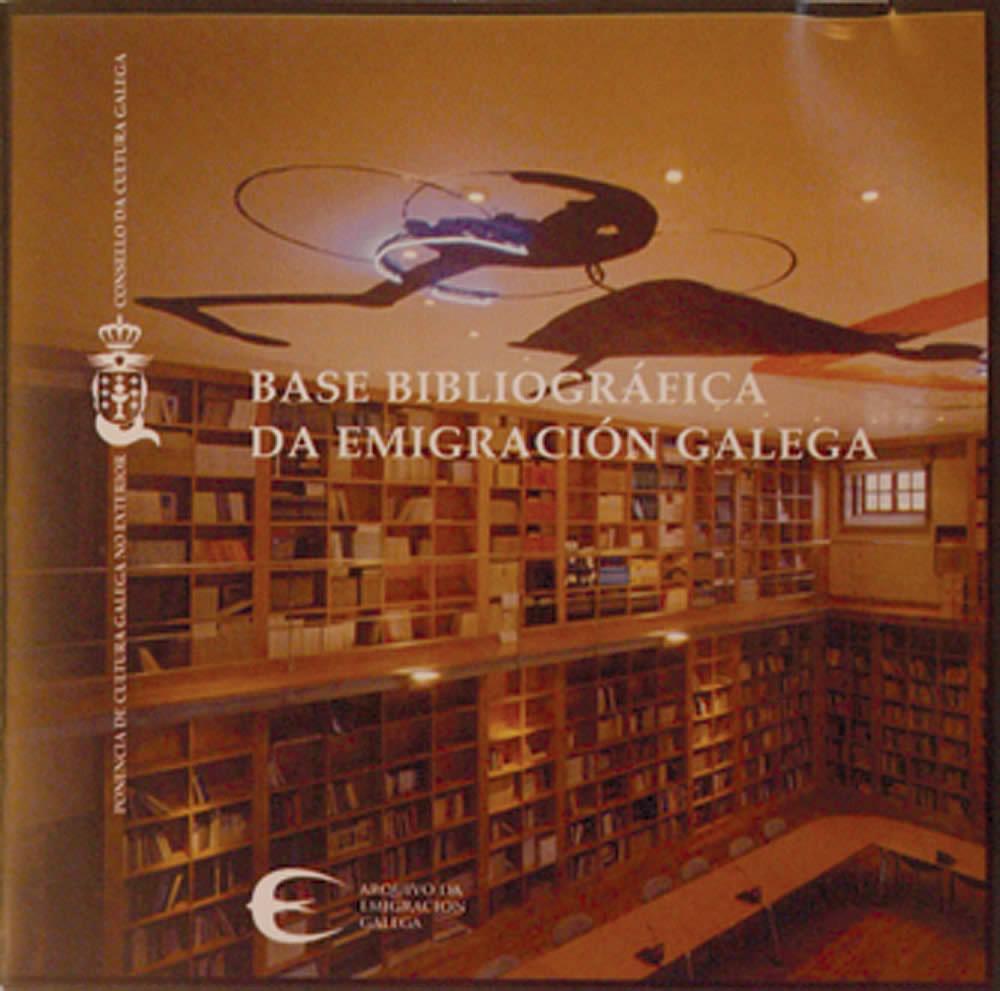 Portada de  Base bibliográfica da emigración galega