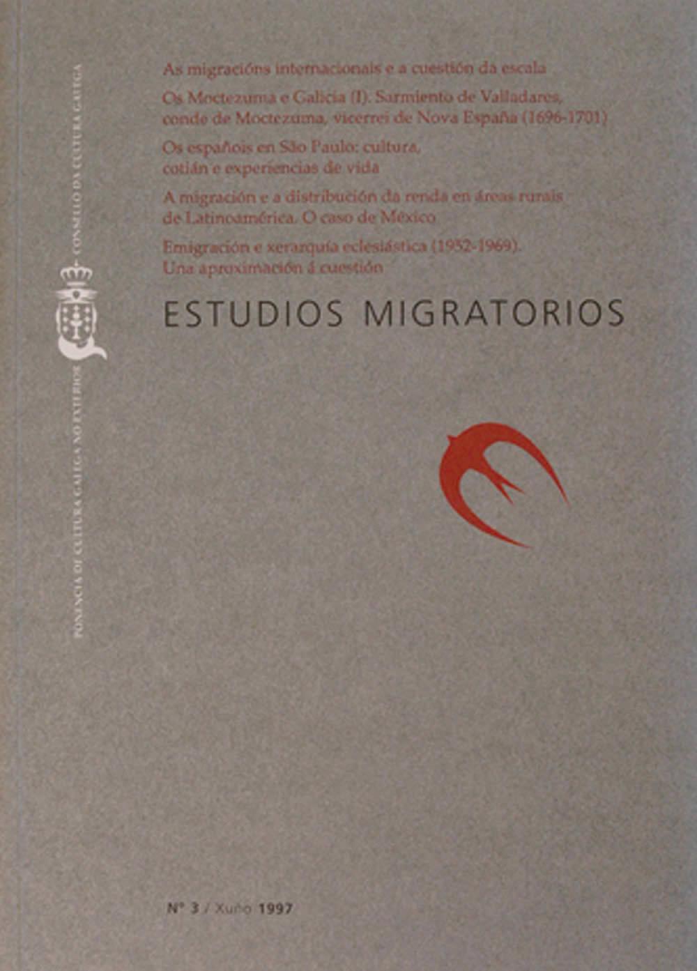 Portada de  Estudios Migratorios N.º 3 (xuño de 1997)