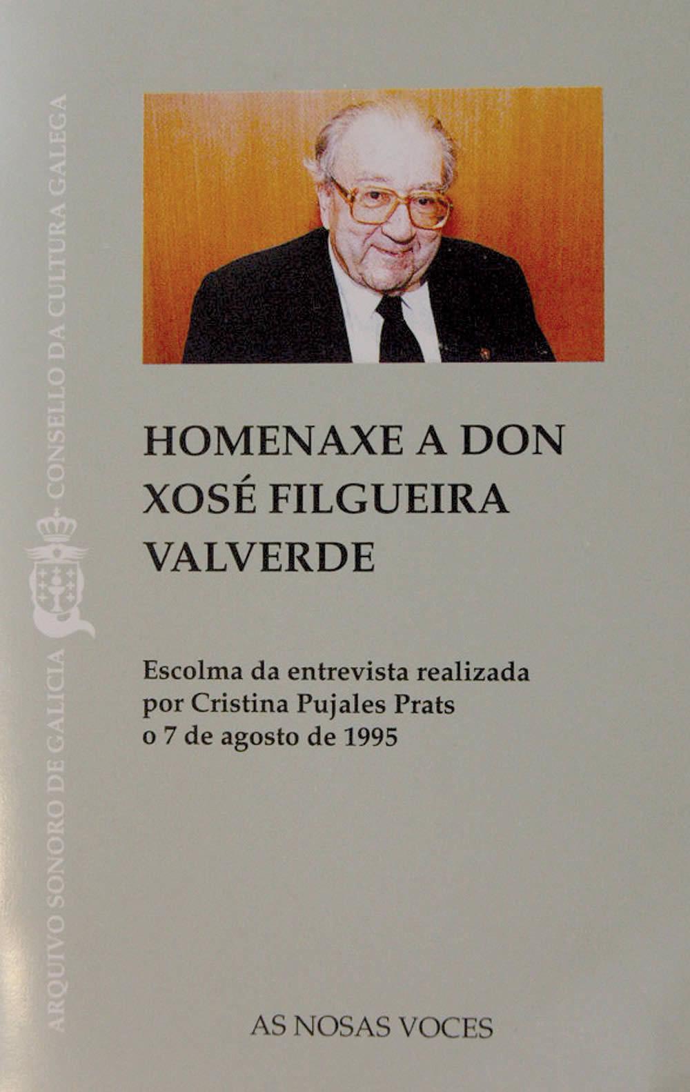 Portada de  Homenaxe a don Xosé Filgueira Valverde