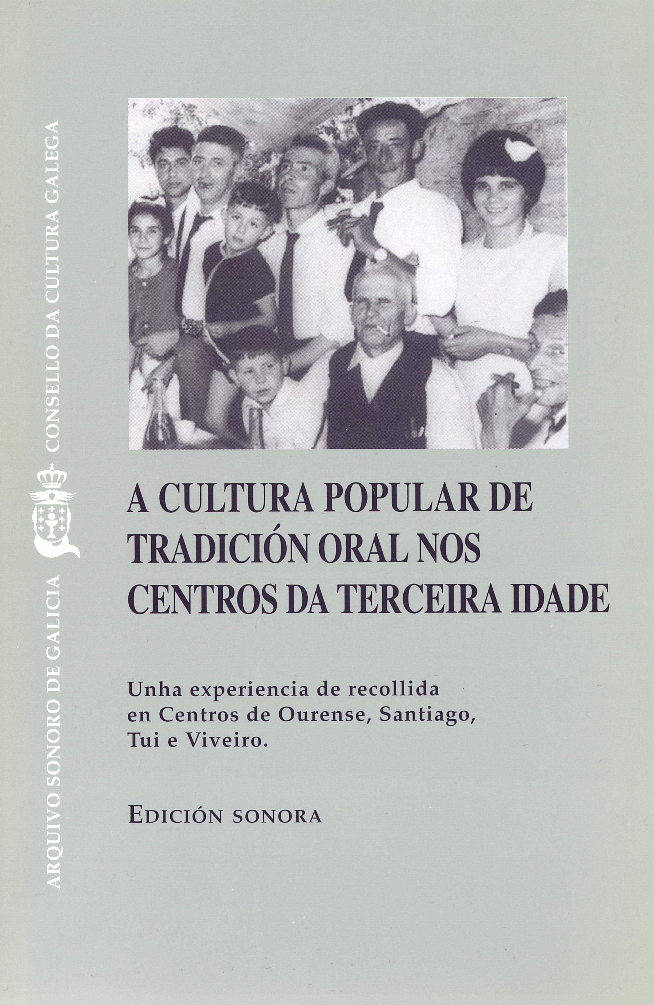 Portada de A cultura popular de tradición oral nos Centros da Terceira Idade