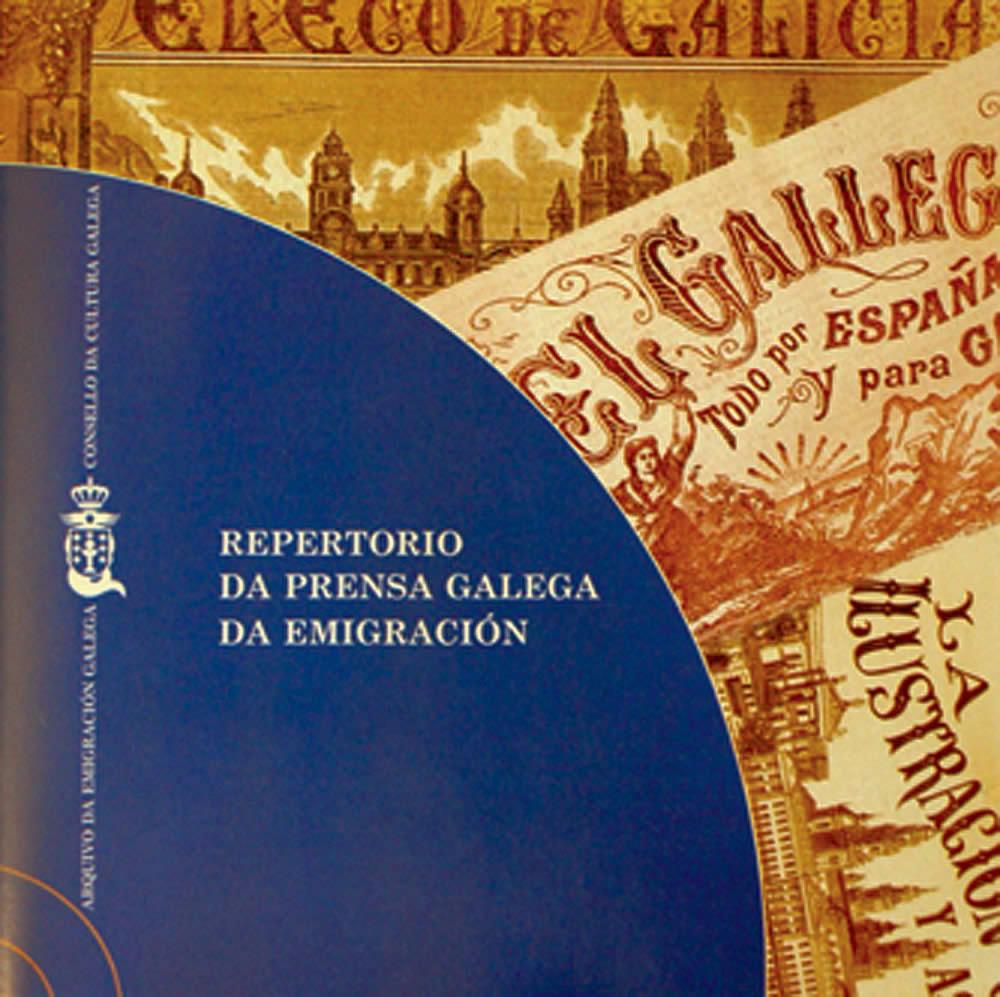 Portada de  Repertorio da prensa galega da emigración [CD]