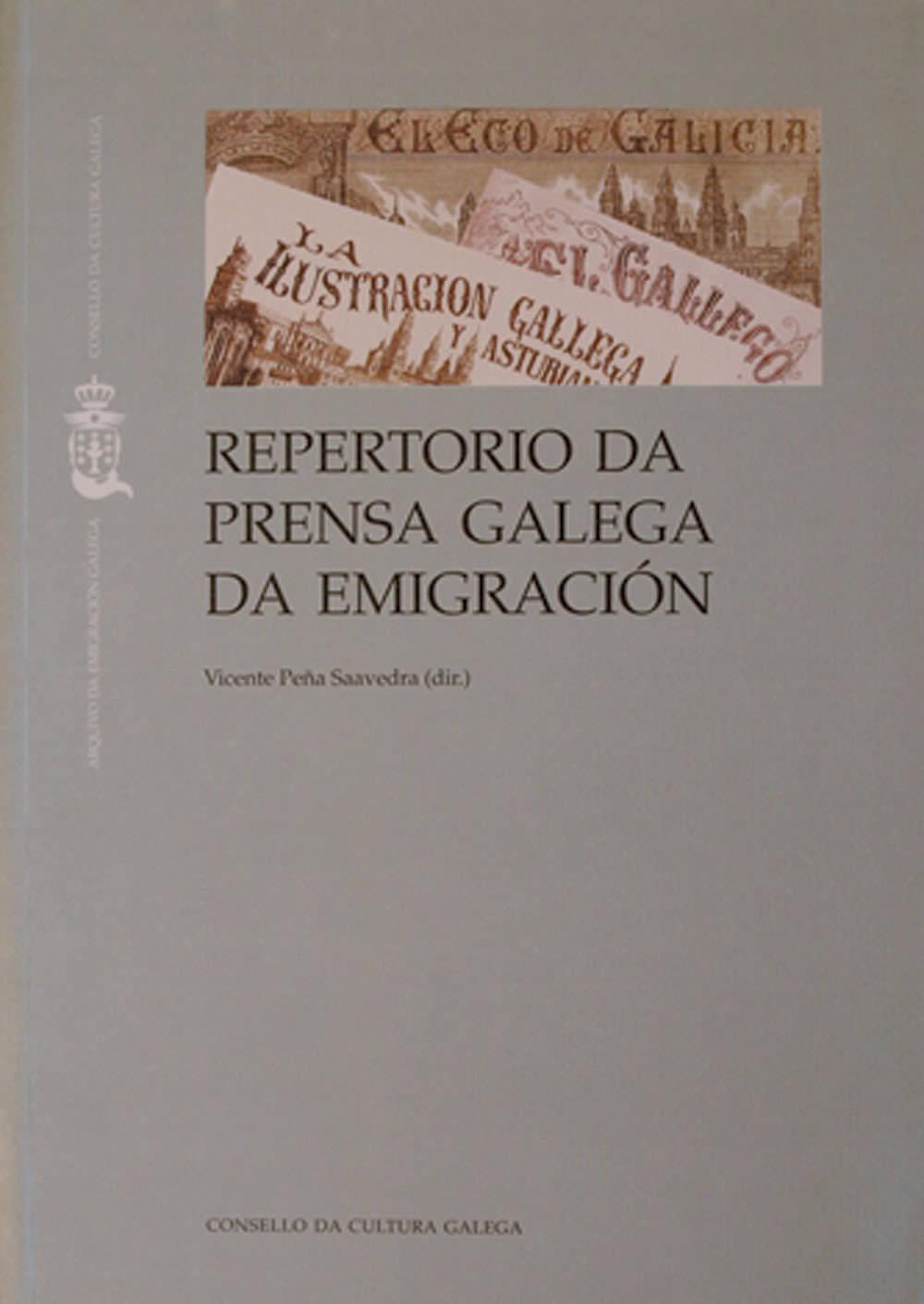 Portada de  Repertorio da prensa galega da emigración [Libro]