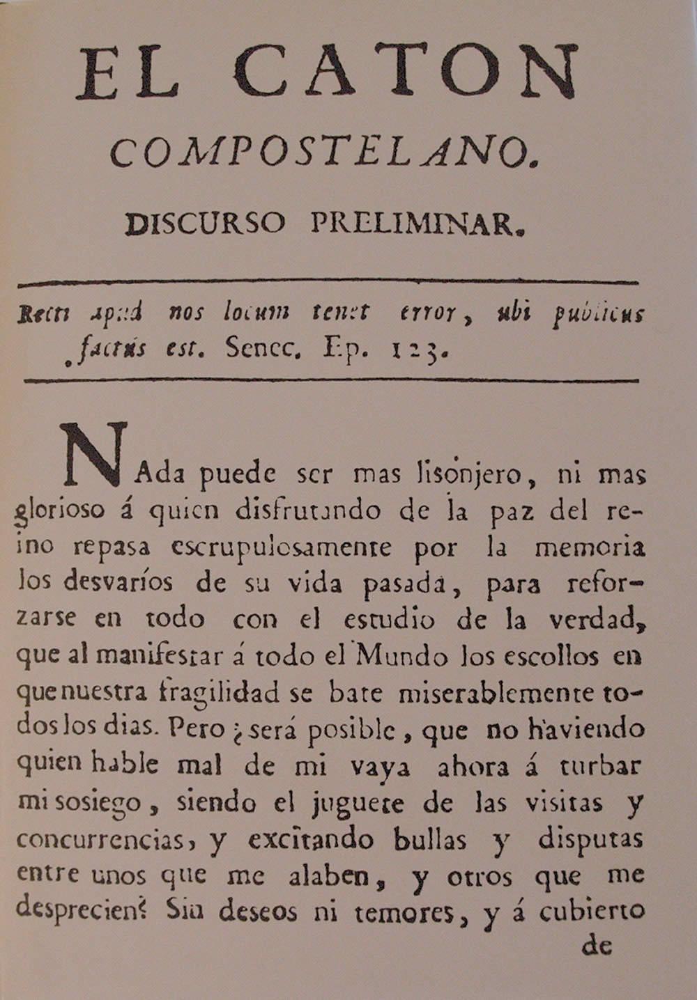 Portada de El catón Compostelano