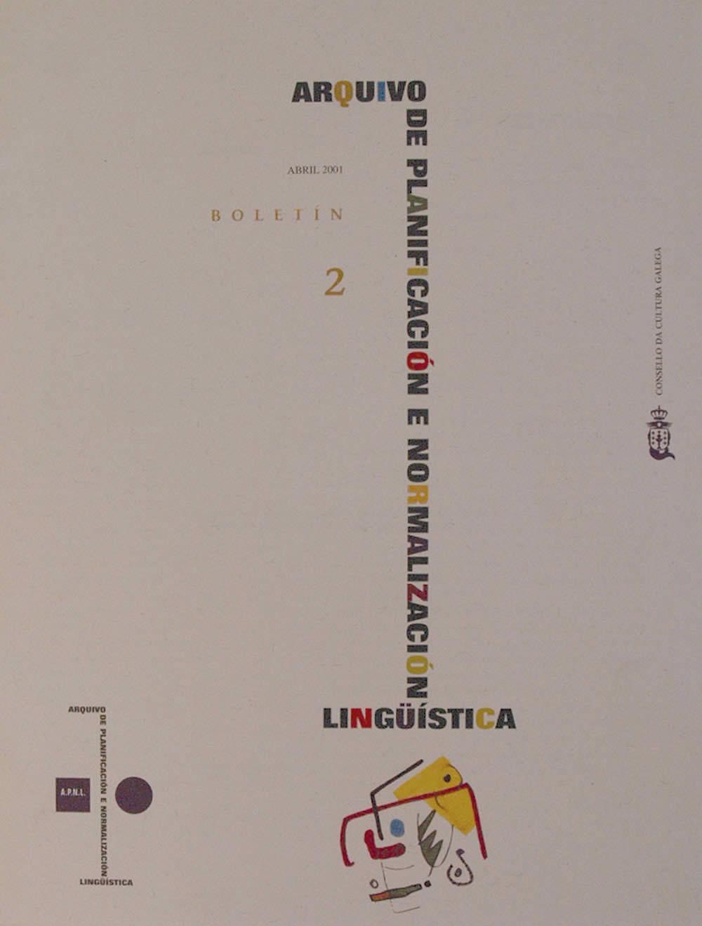 Portada de  Boletín do Arquivo de Planificación e Normalización Lingüística. N.º 2 (2001)
