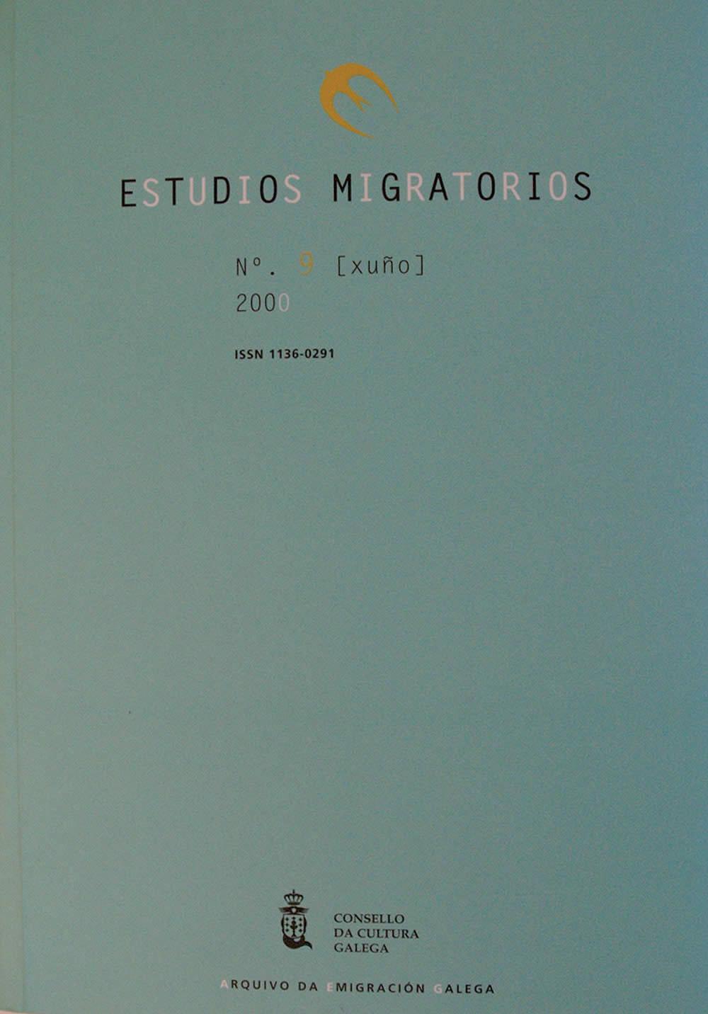 Portada de  Estudios Migratorios N.º 9 (xuño 2000)