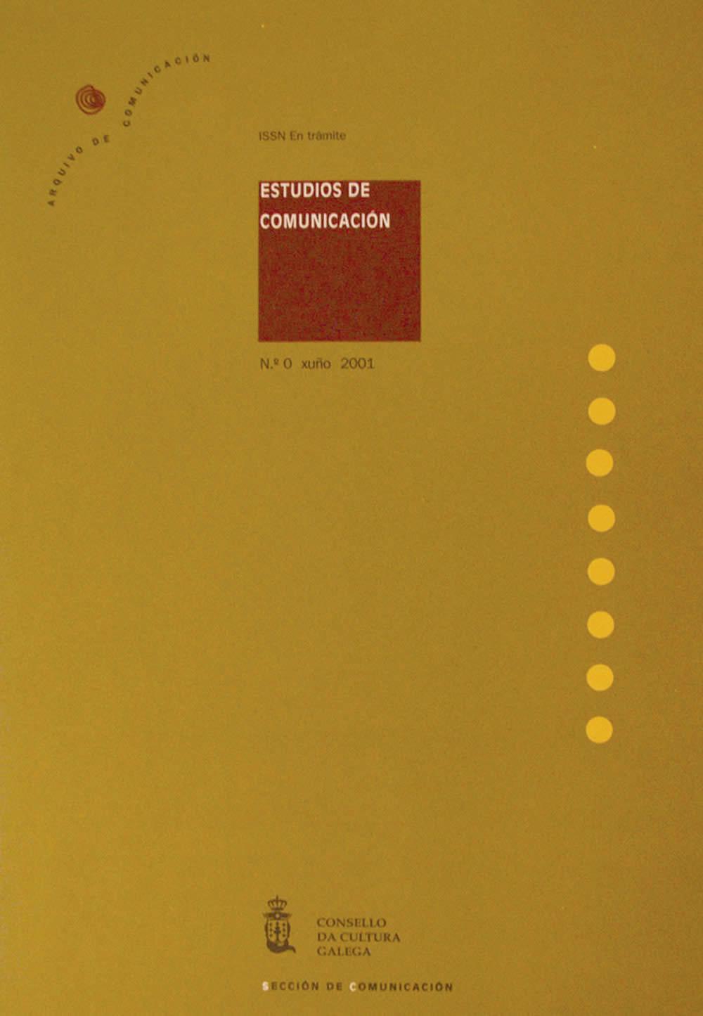 Portada de  Estudios de Comunicación N.º 0 (2001)