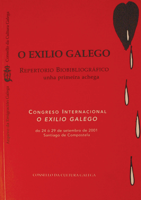 Portada de O exilio galego: repertorio biobibliográfico: unha primeira achega