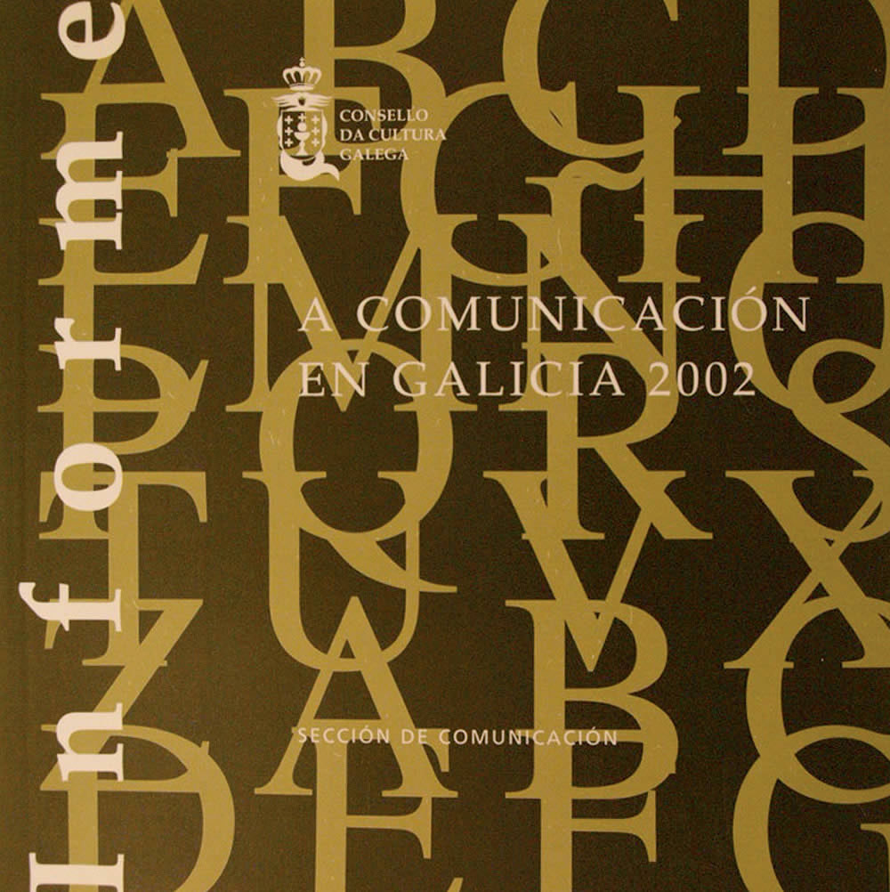 Portada de A Comunicación en Galicia 2002
