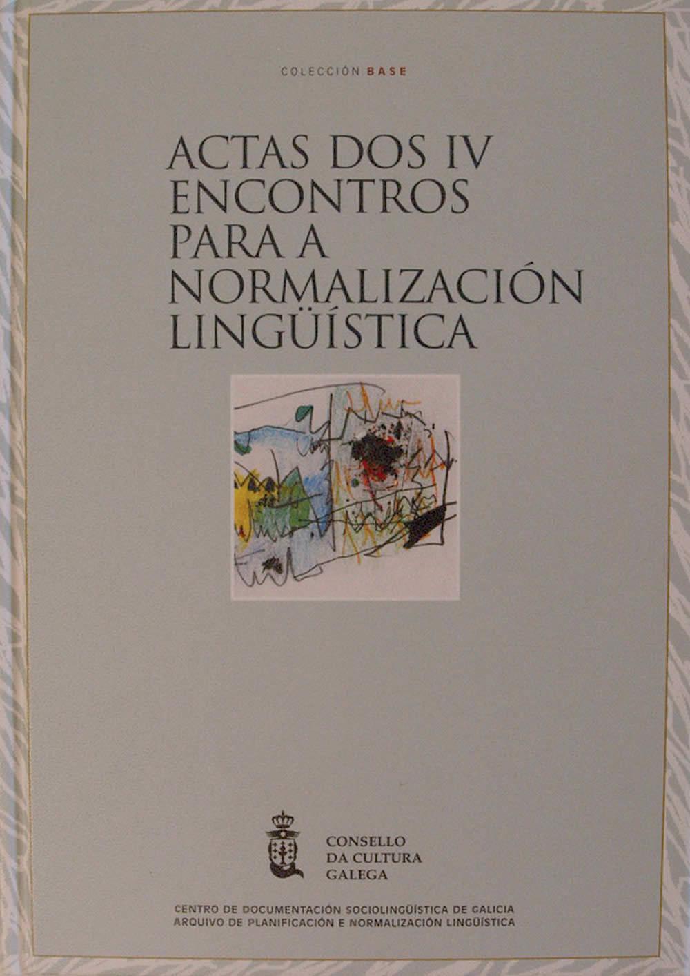 Portada de  Actas dos IV Encontros pola Normalización Lingüística