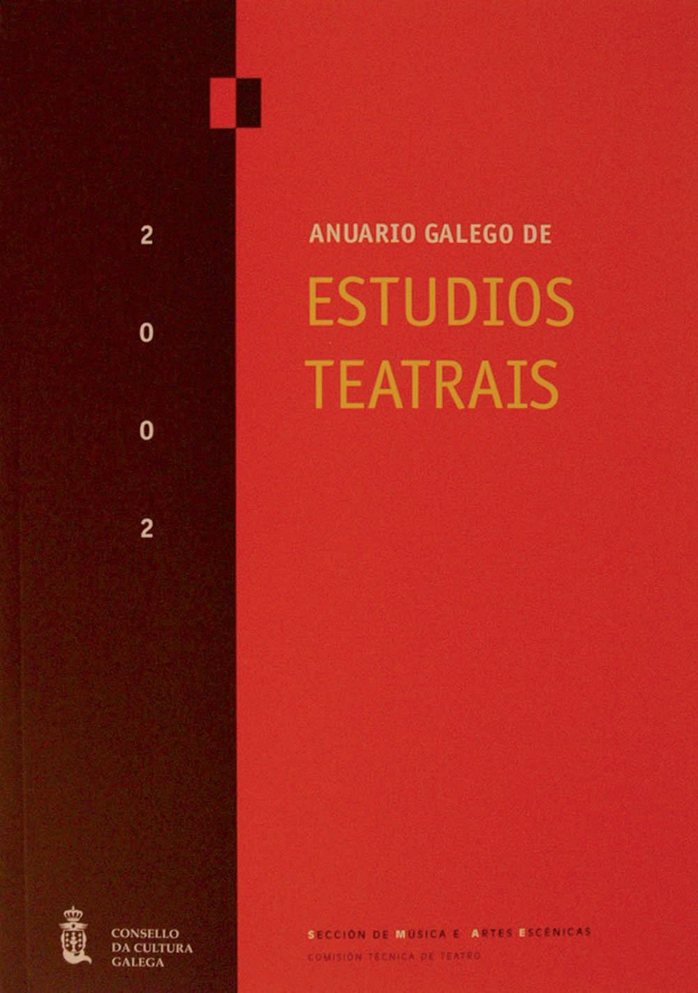 Portada de  Anuario galego de Estudios Teatrais. N.º 2 (2002)