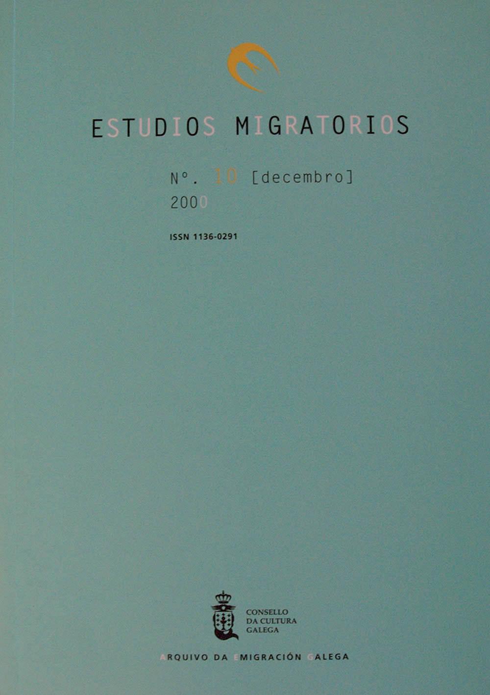 Portada de  Estudios Migratorios N.º 10 (decembro 2000)