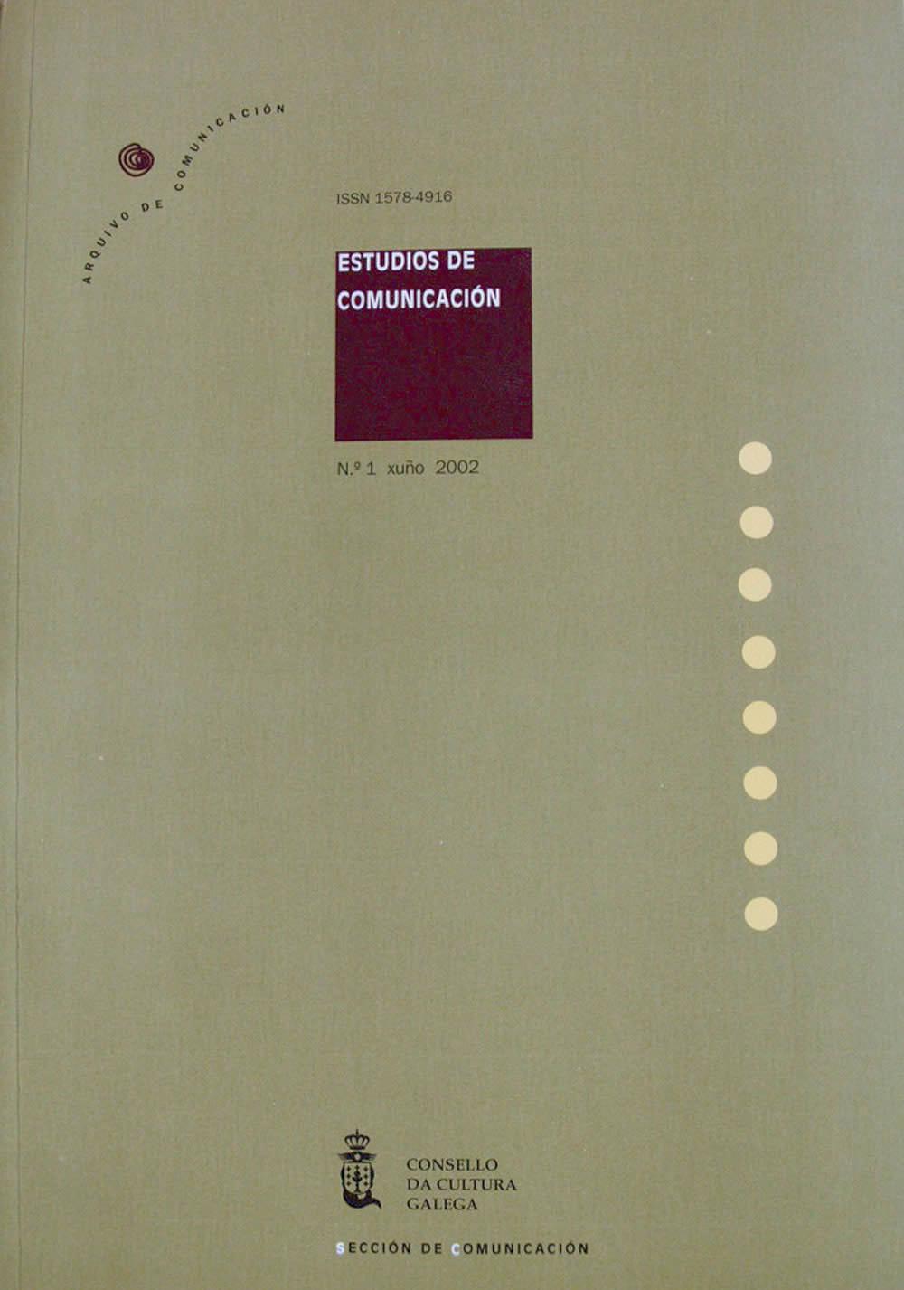 Portada de  Estudios de Comunicación N.º 1 (2002)