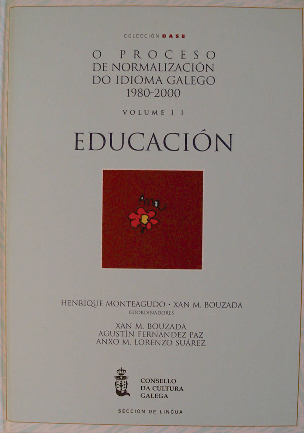 Portada de O Proceso de normalización do idioma galego (1980-2000)
