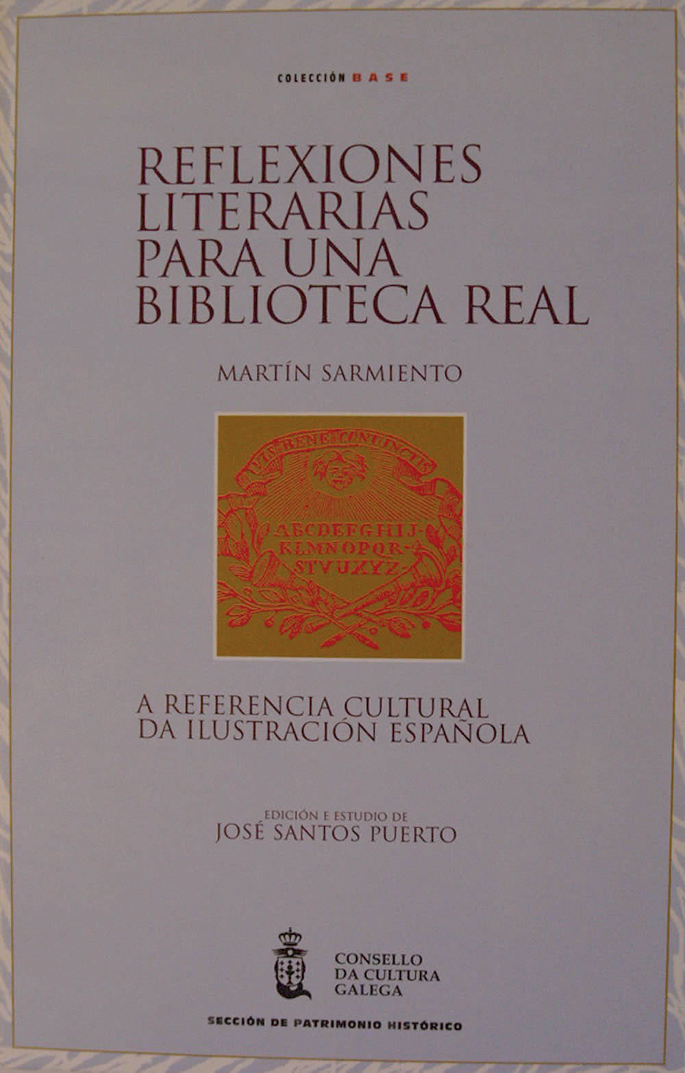 Portada de  Reflexiones literarias para una biblioteca real