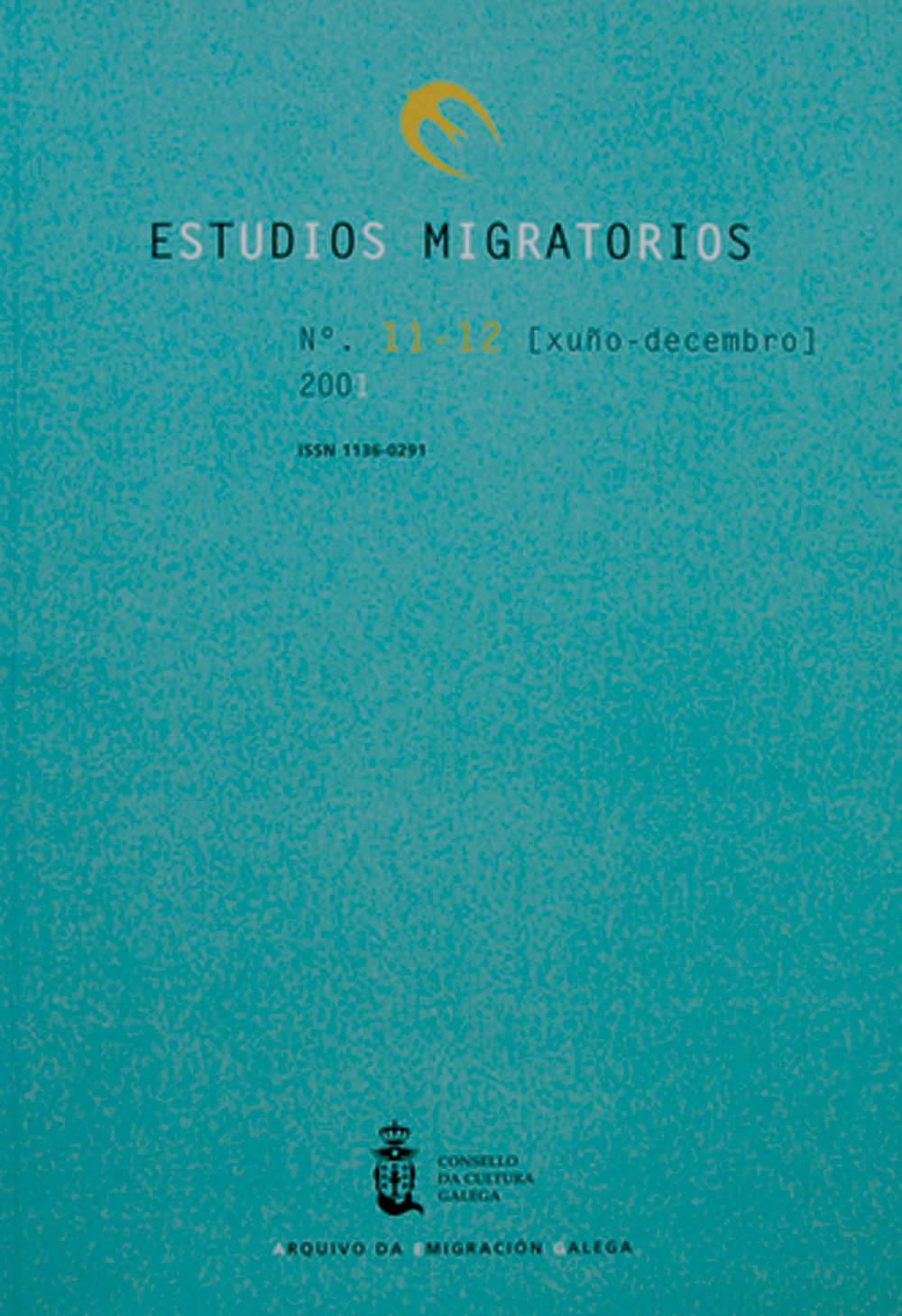 Portada de  Estudios Migratorios N.º 11-12 (xuño-decembro 2001)