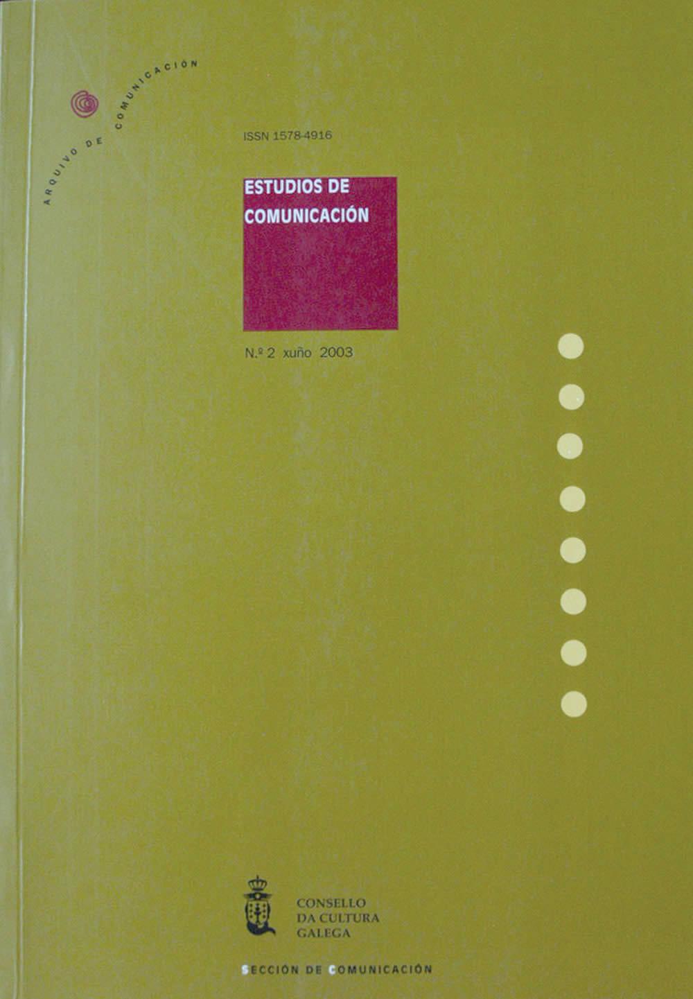 Portada de  Estudios de Comunicación N.º 2 (2003)