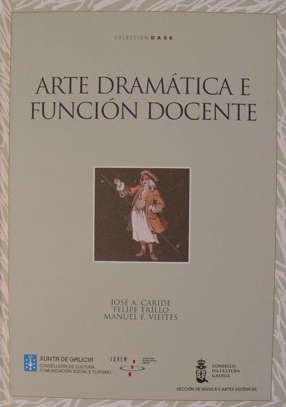 Portada de A arte dramática e función docente