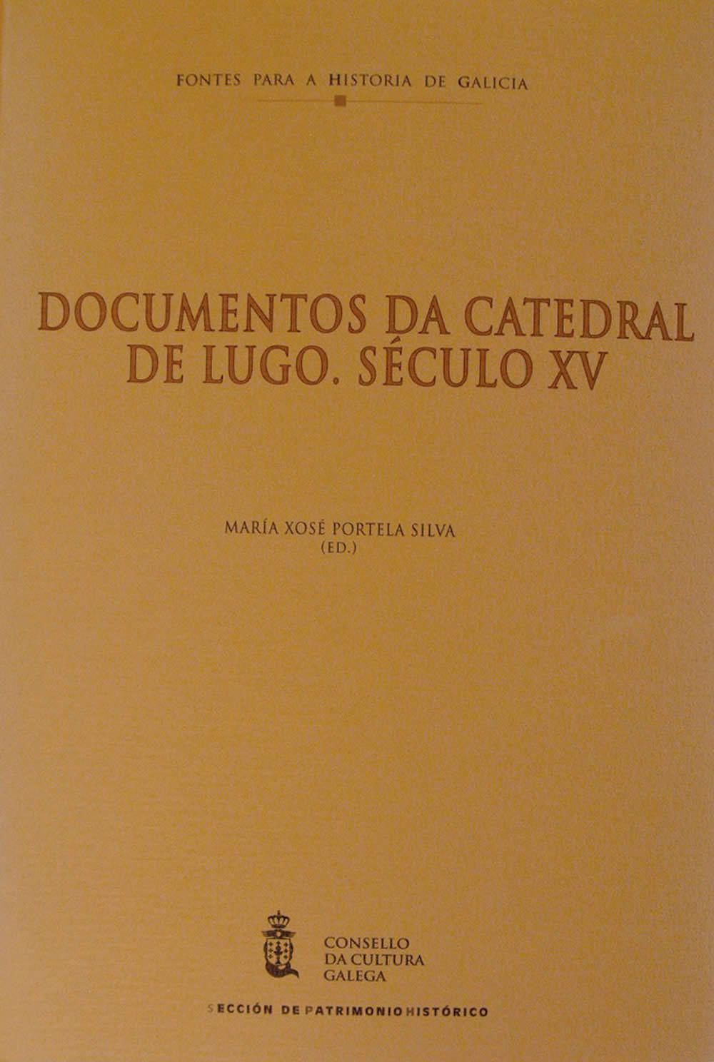Portada de  Documentos da Catedral de Lugo