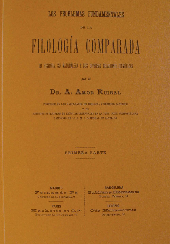 Portada de Los problemas fundamentales de la filología comparada