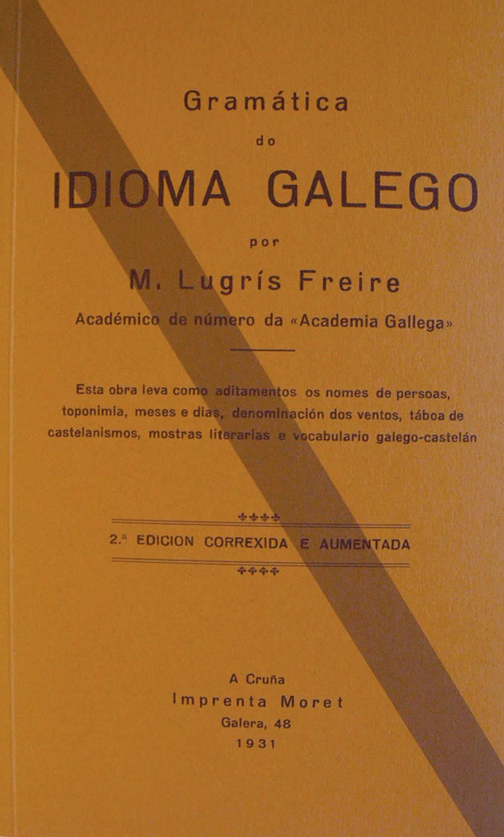 Portada de  Gramática do idioma galego