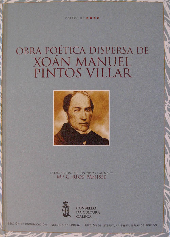 Portada de  Obra poética dispersa de Xoán Manuel Pintos Villar