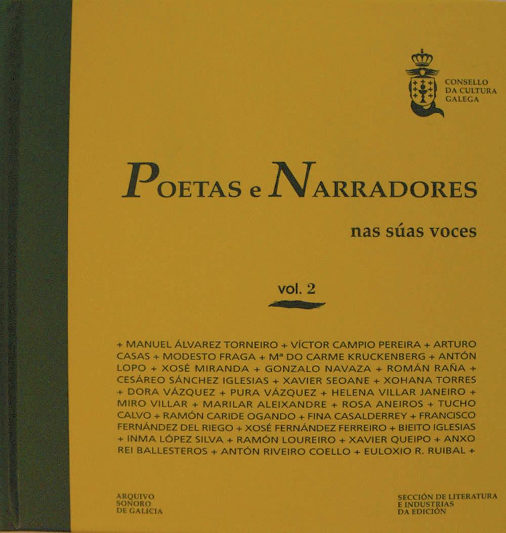 Portada de  Poetas e narradores nas súas voces. Vol. II