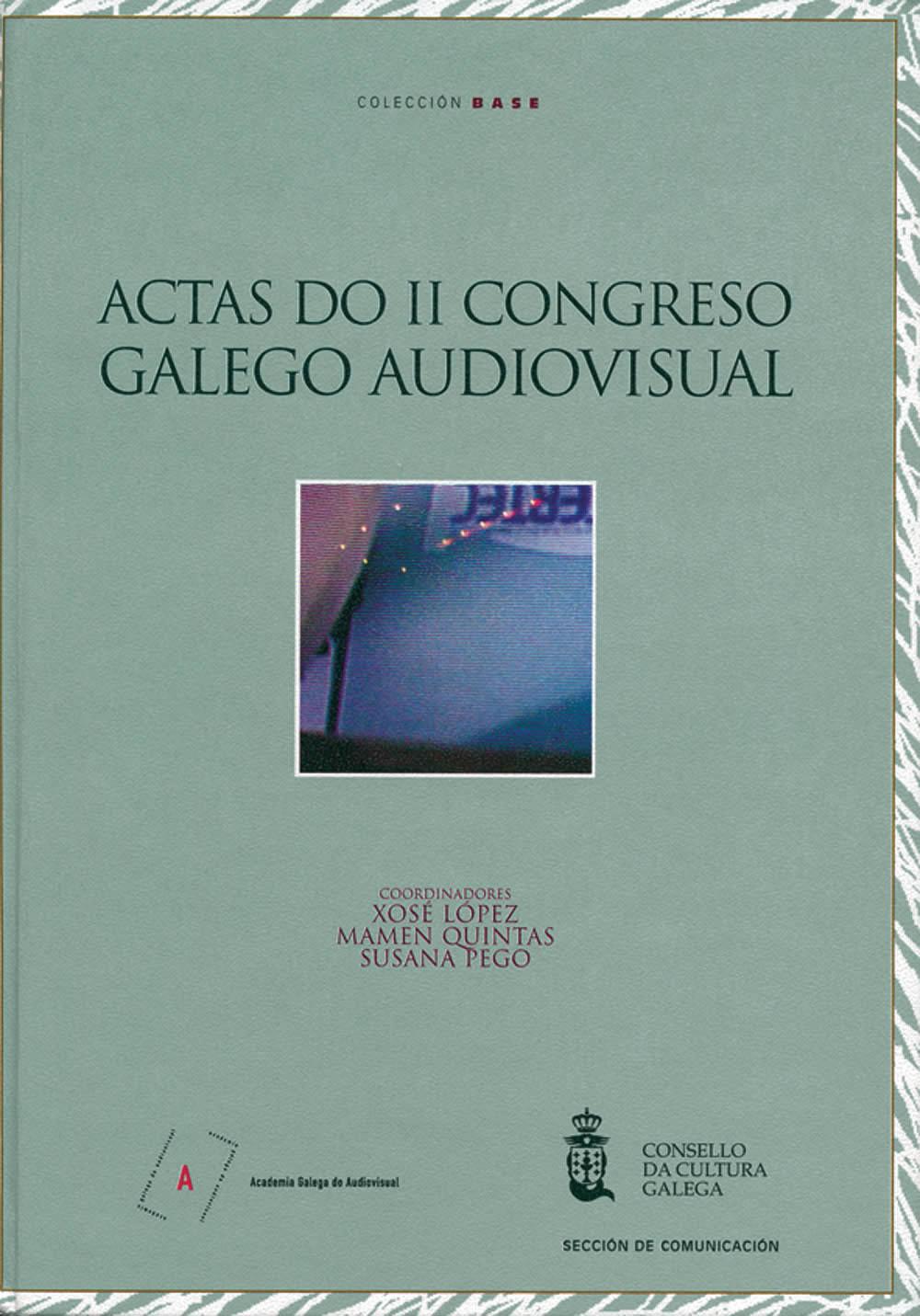 Portada de  Actas do II Congreso Galego Audiovisual
