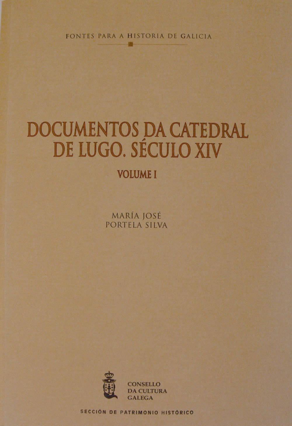 Portada de  Documentos da Catedral de Lugo (V. I)