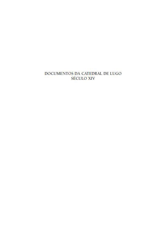 Portada de  Documentos da Catedral de Lugo (V. II)