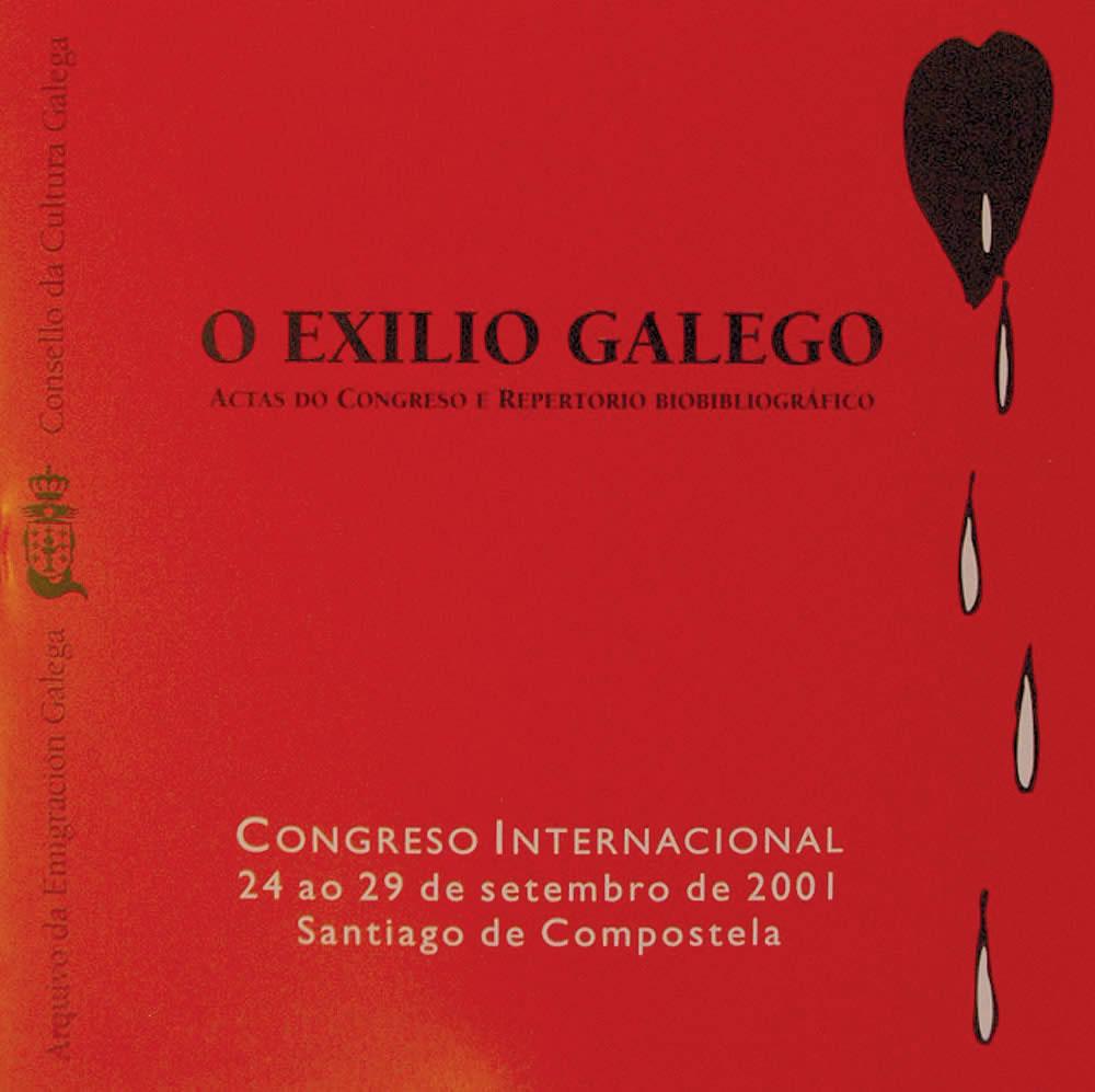 Portada de O exilio galego: actas do congreso e repertorio biobibliográfico