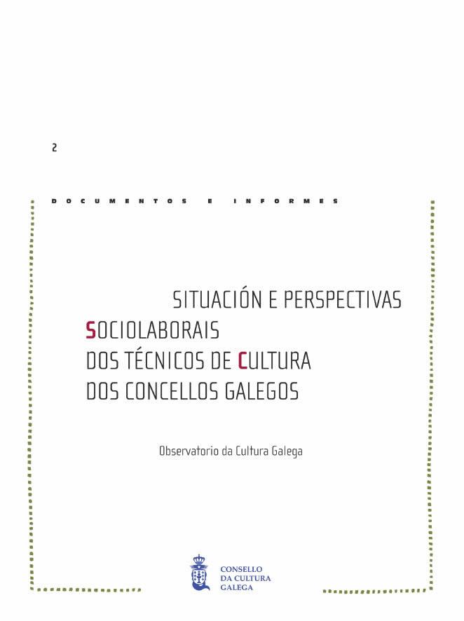 Portada de  Situación e perspectivas sociolaborais dos técnicos de Cultura dos Concellos Galegos