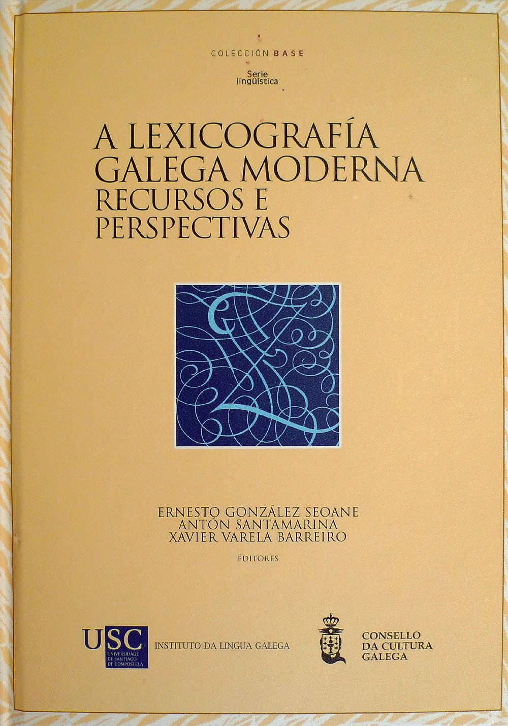 Portada de A lexicografía galega moderna