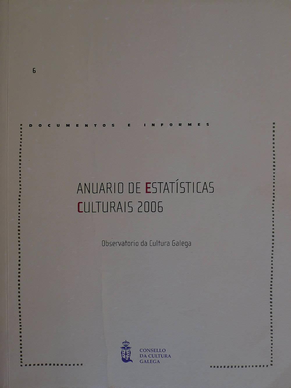 Portada de  Anuario de Estatísticas Culturais 2006