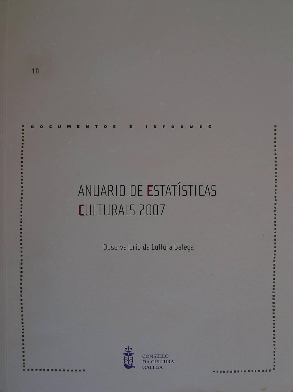 Portada de  Anuario de estatísticas culturais 2007