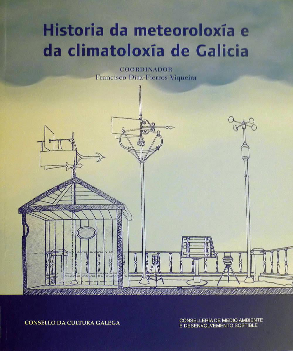 Portada de  Historia da meteoroloxía e da climatoloxía de Galicia