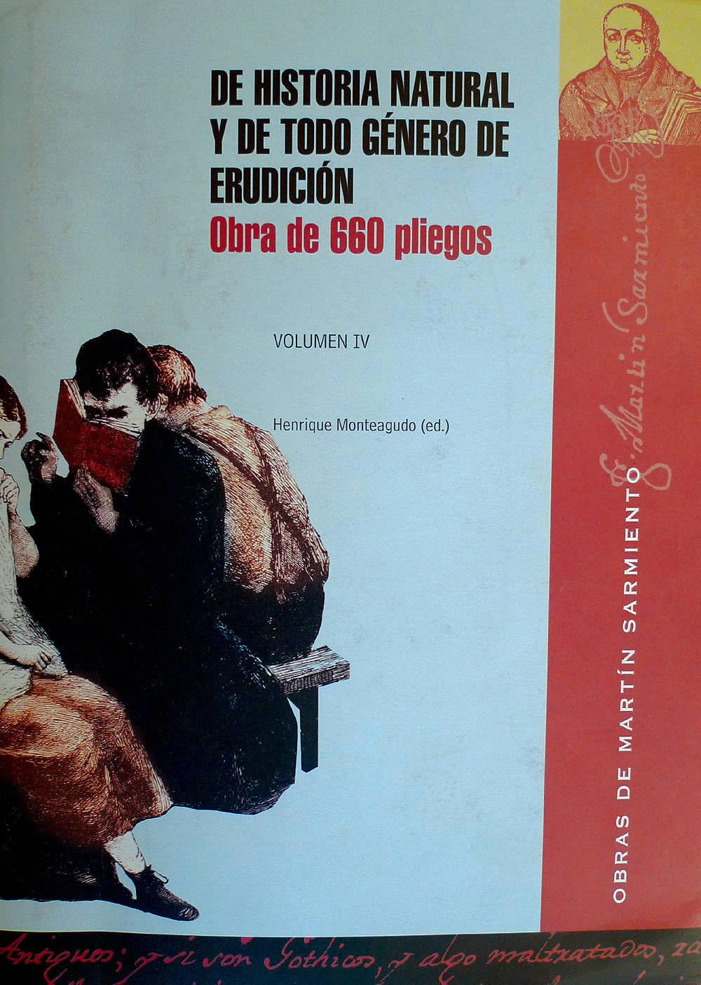 Portada de  De historia natural y todo género de erudición. Volumen IV