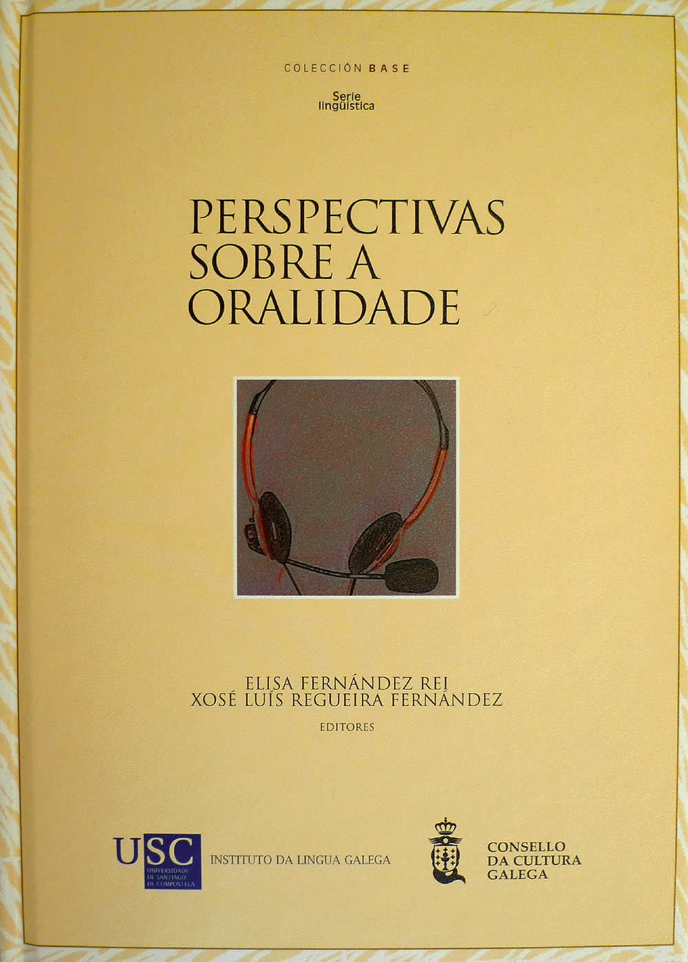 Portada de  Perspectivas sobre a oralidade