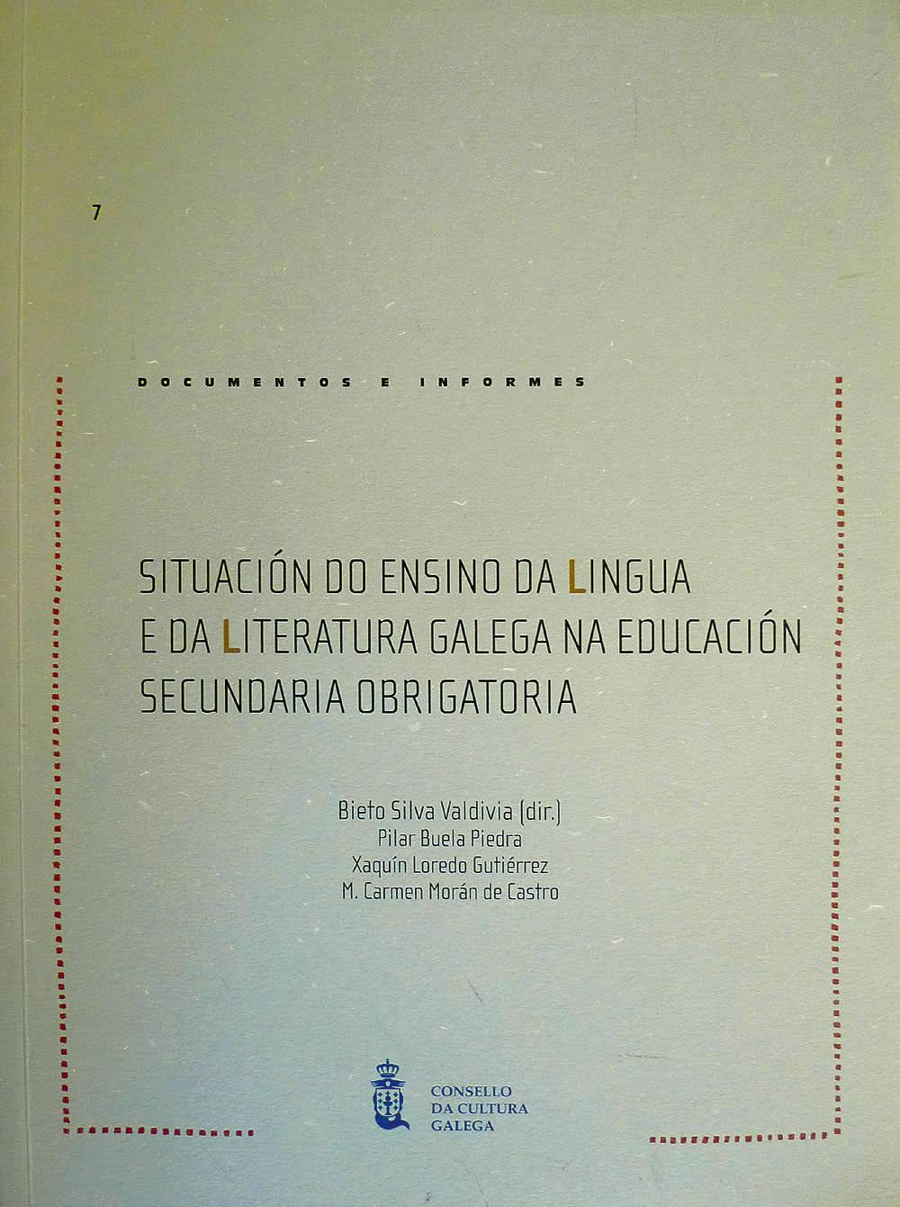 Portada de  Situación do ensino da lingua e da literatura galega na E.S.O.