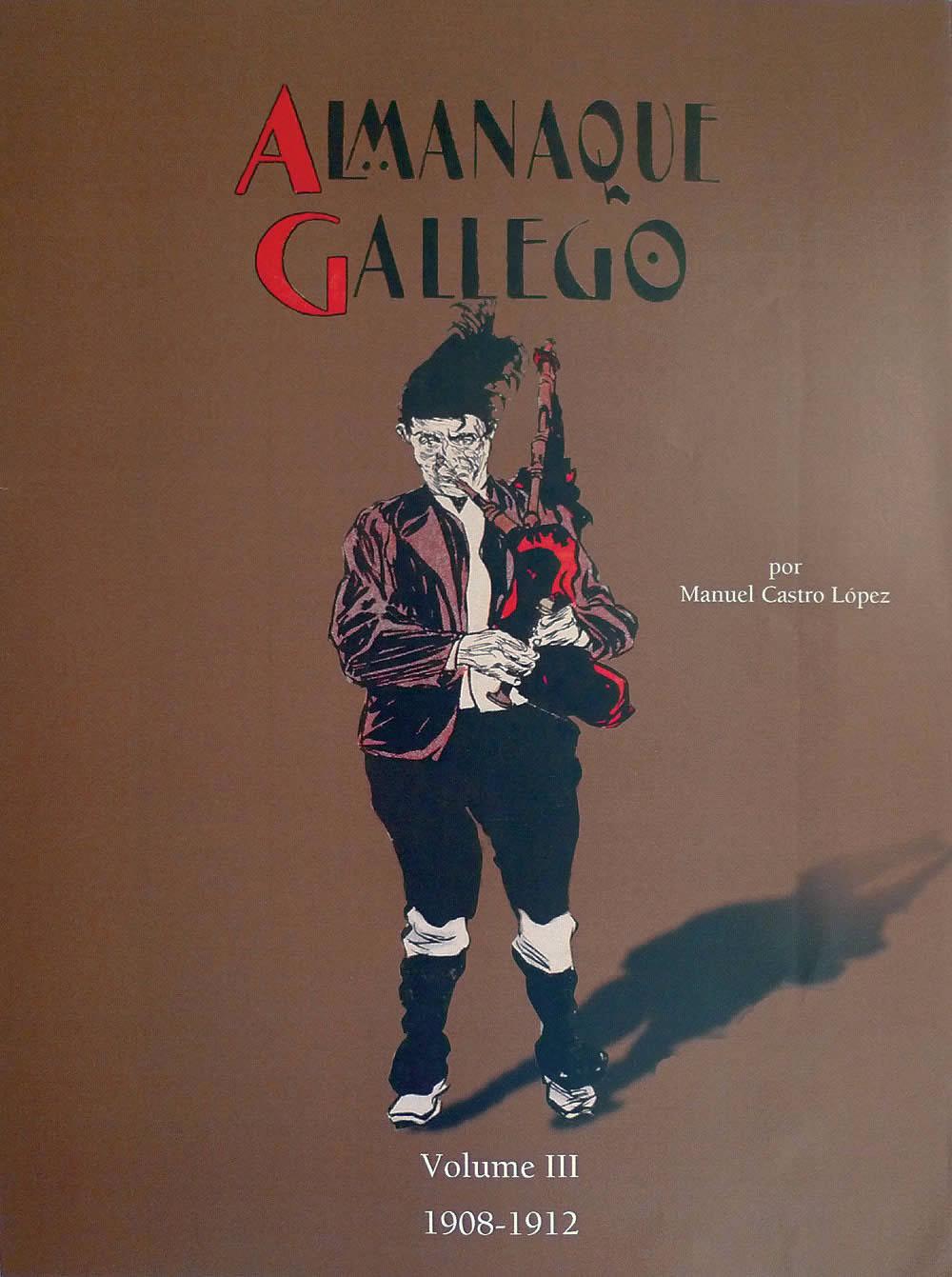 Portada de  Almanaque gallego por Manuel Castro López (Volume III: 1908-1912)